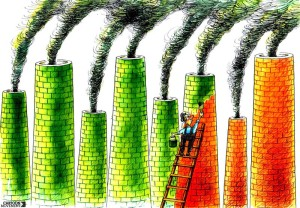 Greenwashing cartoon